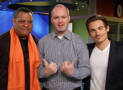 Laurence Fishburne and Kevin Zegers