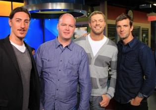 Eric Balfour, Adam Copeland and Lucas Bryant
